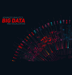 big data circular colorful vector image