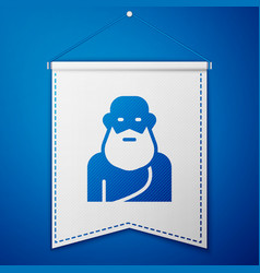 Blue socrates icon isolated on background vector