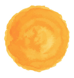 bright orange watercolor painted stain vector image