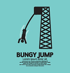 Bungy Jump vector image