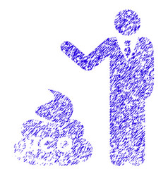 businessman show ico shit icon grunge watermark vector image