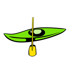 Canoe with paddle icon icon cartoon vector
