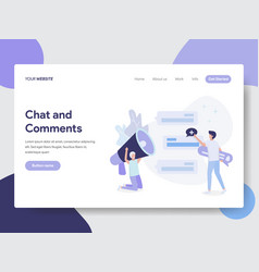 chat and comment concept vector image
