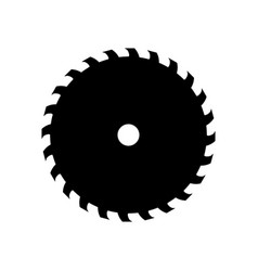 circular saw metal icon blade icon saw vector image