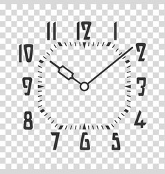 clock face placed on transparent backdrop vector image