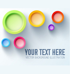 Colorful design concept with bright rainbow 3d vector