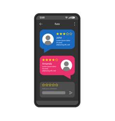 Consumers feedback interface template vector