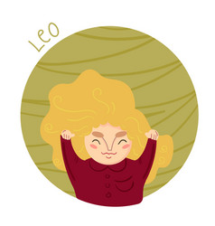 cute zodiac sign - leo vector image