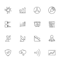 Doodle communication icons set vector