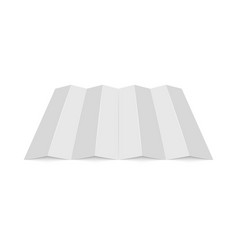 empty mockup white folded paper sheet perspective vector image