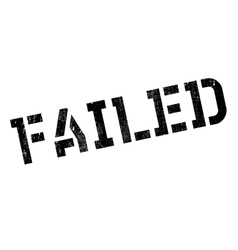 Failed stamp rubber grunge vector