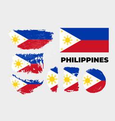 Flag philippines republic vector
