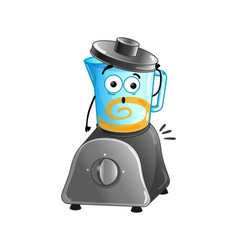 funny kitchen blender cartoon character vector image