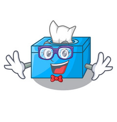 Geek cartoon tissue box in the restaurant vector