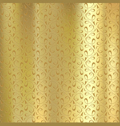 geometric pattern on a gold plate engraving on vector image