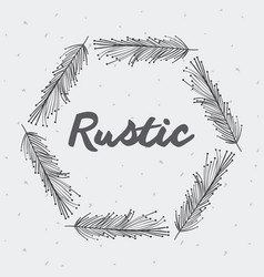 Gray rustic feathers icon vector