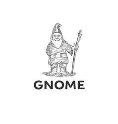 Hand drawing gnome design vector