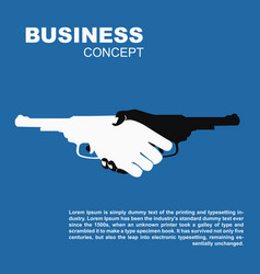 handshake with guns killing business contract vector image