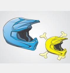 Helmets Motocross vector image