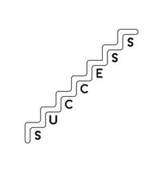 icon concept success stairs vector image
