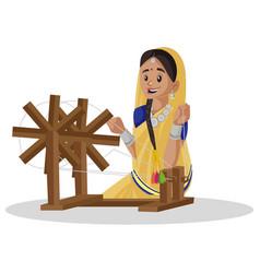 Indian gujarati man cartoon vector