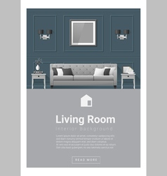 Interior design Modern living room banner 5 vector image