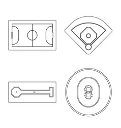 Isolated object plan and sport symbol vector