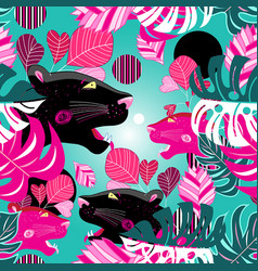 Jungle seamless multicolored pattern with vector