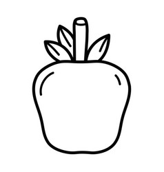 Line delicious apple fruit to healthy life vector