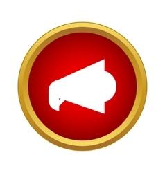 Loudspeaker icon in simple style vector