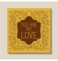 Love card vintage style frame vector