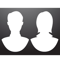 Man and women silhouettes vector image