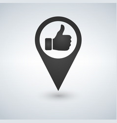 map icon like icon sign - vector image