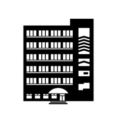 Multistory building icon simple style vector
