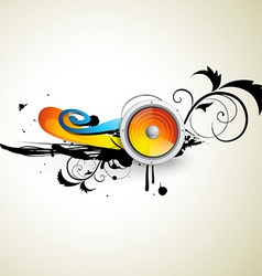 music art design vector image