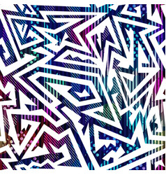 Neon color maze seamless pattern vector