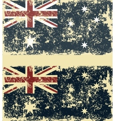 Old scratched flag vector image