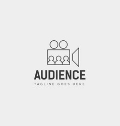 People watch movie performance show simple logo vector