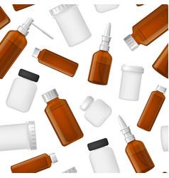 realistic detailed 3d medical bottle glass vector image