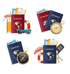 realistic detailed 3d travelling set vector image