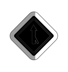 Road traffic signal with arrow vector