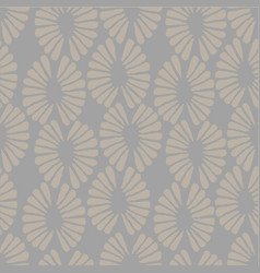 seamless grey pattern with retro flowers vector image