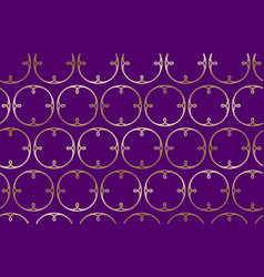 seamless pattern golden rings curls purple vector image