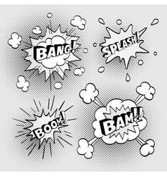 Set comic sound effects vector