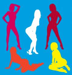 sexy silhouette collection vector image vector image