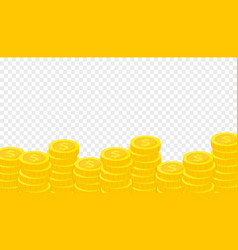 stack gold coins concept saving donation vector image