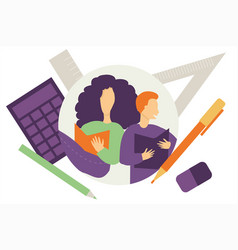 Students - back to school concept vector