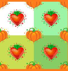 Sweet hearts seamless pattern vector