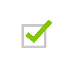 tick icon symbol flat cartoon green vector image