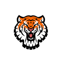 tiger head logo icon vector image